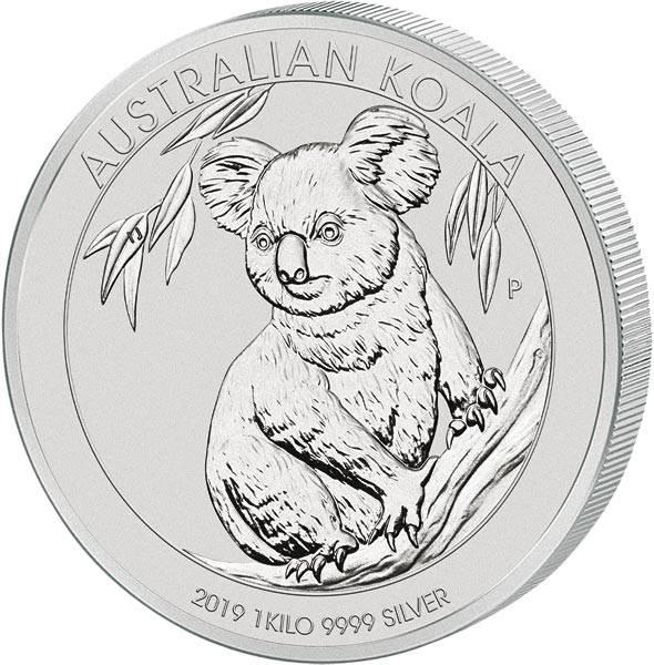 1 Kilo Silber Australien Koala 2019