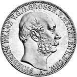 Taler Vereinstaler Friedrich Franz 1864 Sehr schön