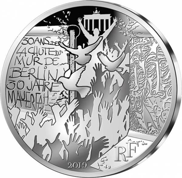 10 Euro Frankreich 30 Jahre Fall der Berliner Mauer 2019
