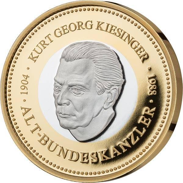 Gedenkprägung Kurt G. Kiesinger
