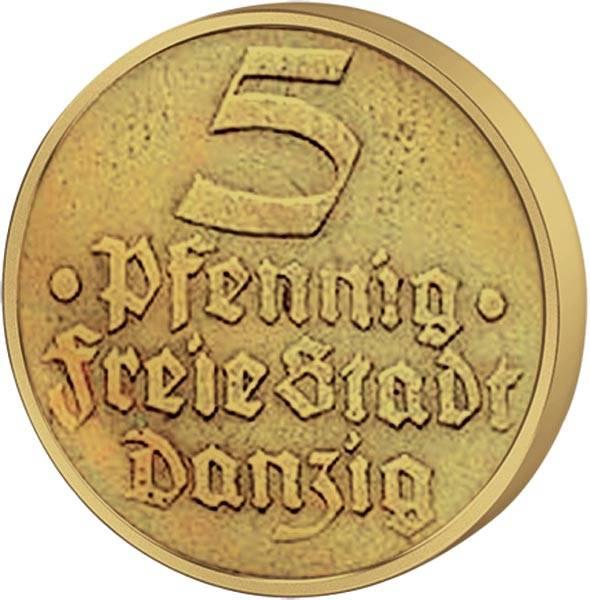 5 Pfennig Danzig Flunder 1932