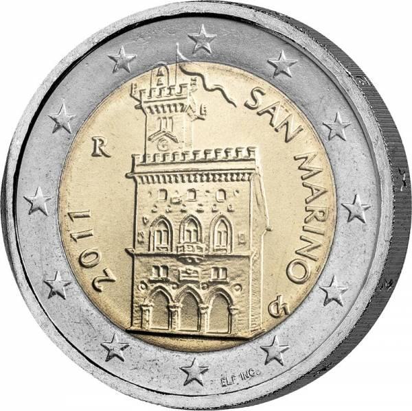 2 Euro San Marino Regierungspalast 2011