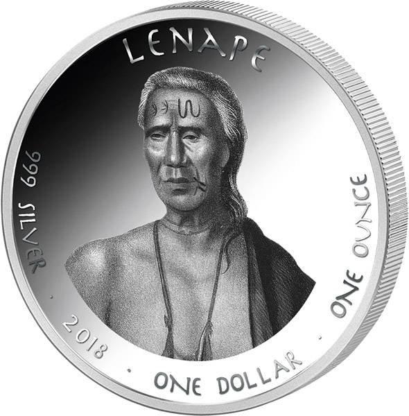 1 Dollar USA Native State Dollar Lenape Vollblutpferd New Jersey 2018