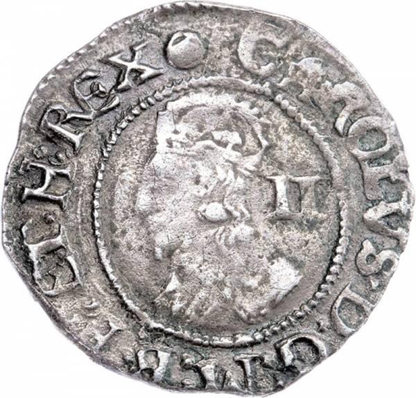Halbgroschen England König Karl I.