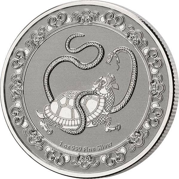 1 Unze Silber Niue Schwarze Schildkröte 2021