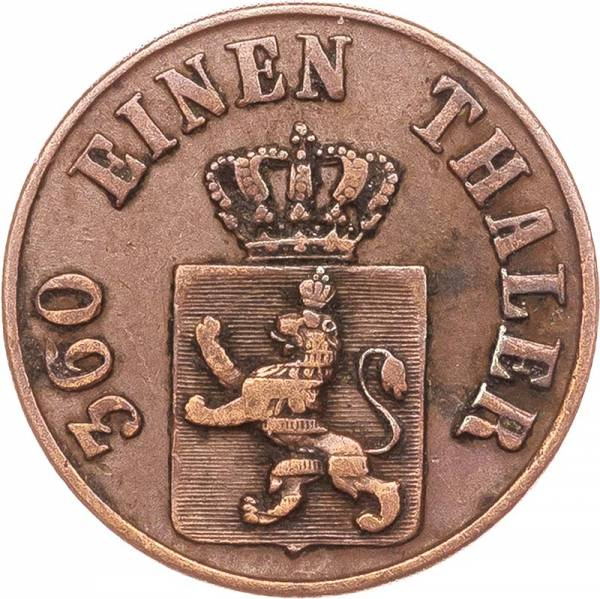 1 Heller Hessen-Kassel Wilhelm II und Friedrich Wilhelm 1843, 1845 und 1847