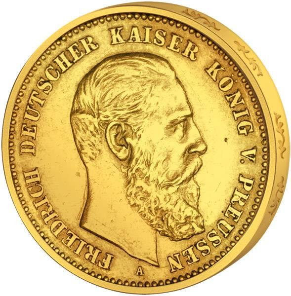10 Mark Preußen Friedrich III. 1888 Sehr schön