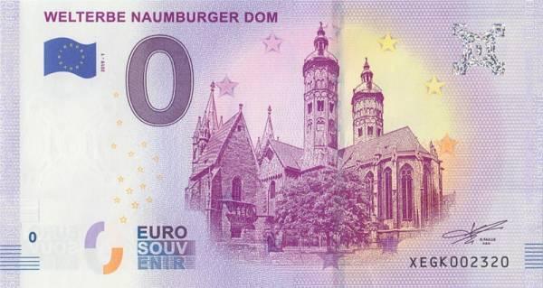 0-Euro-Banknote Naumburger Dom 2019