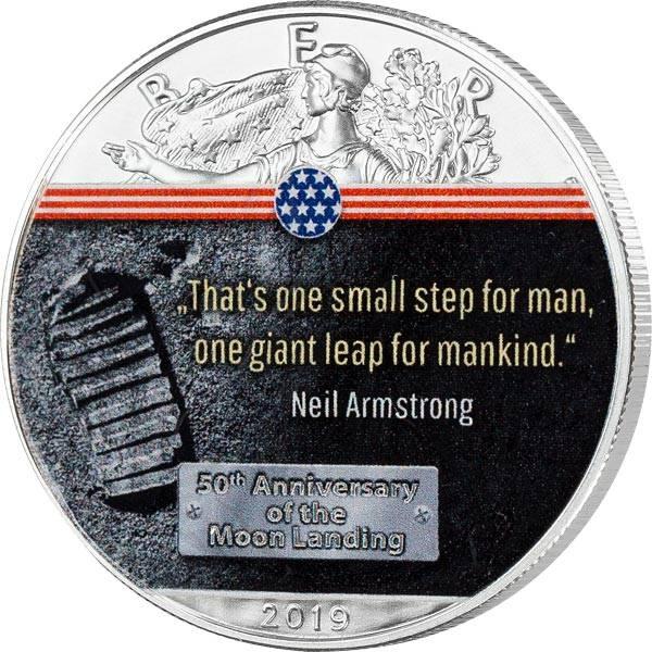 1 Dollar USA 50 Jahre Mondlandung Erster Schritt auf dem Mond 2019