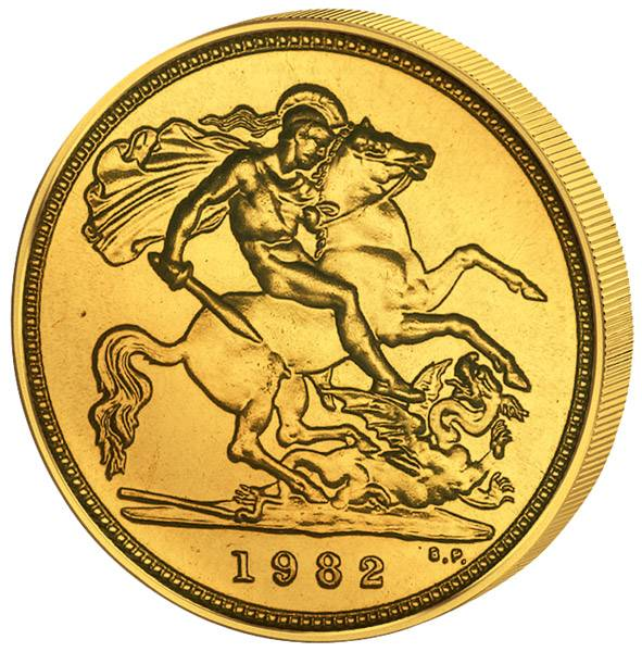 1/2 Sovereign Großbritannien King Georg V. 1980 - 2016