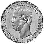 Taler Vereinstaler Heinrich XX. 1836-1859 Sehr schön
