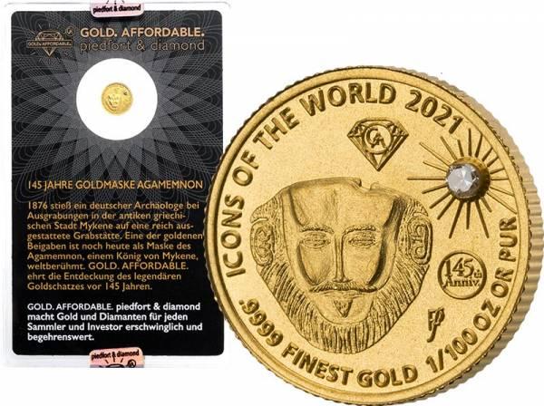 10 Francs Ruanda Gold Affordable Diamond Edition Agamemnon 2021