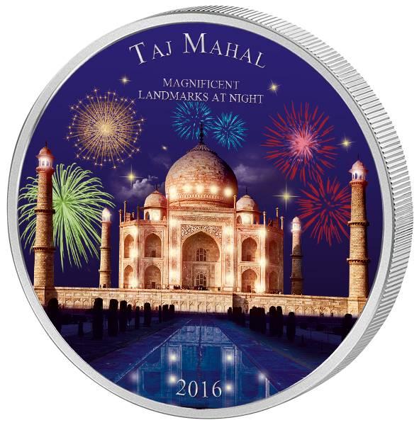 2.000 Francs CFA Elfenbeinküste Magnificent Landmarks at Night Taj Mahal 2016 - FOTOMUSTER