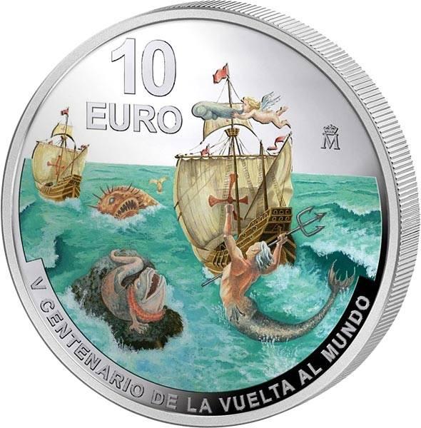 10 Euro Spanien 500 Jahre Erste Weltumsegelung Magellanstraße 2020