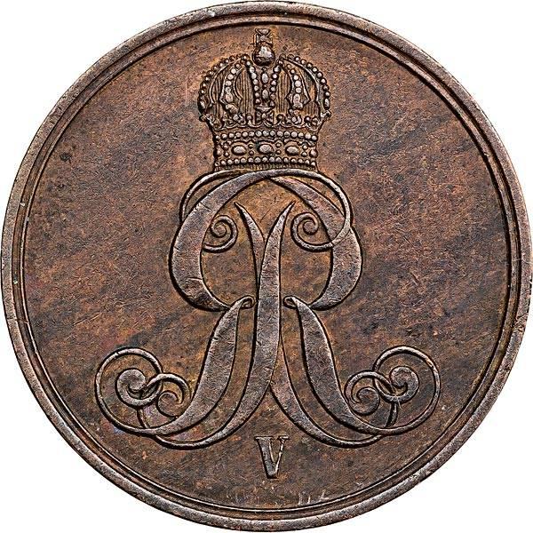 2 Pfennig Hannover König Georg V. 1858-1864
