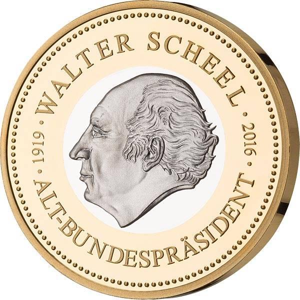 Gedenkprägung Walter Scheel