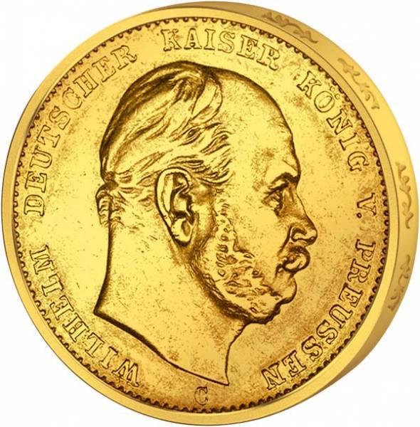 20 Mark Preußen Friedrich Wilhelm I. 1871 ss-vz