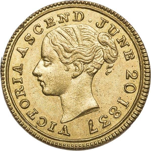 Großbritannien Schul Token Thronbesteigung von Königin Victoria 1837