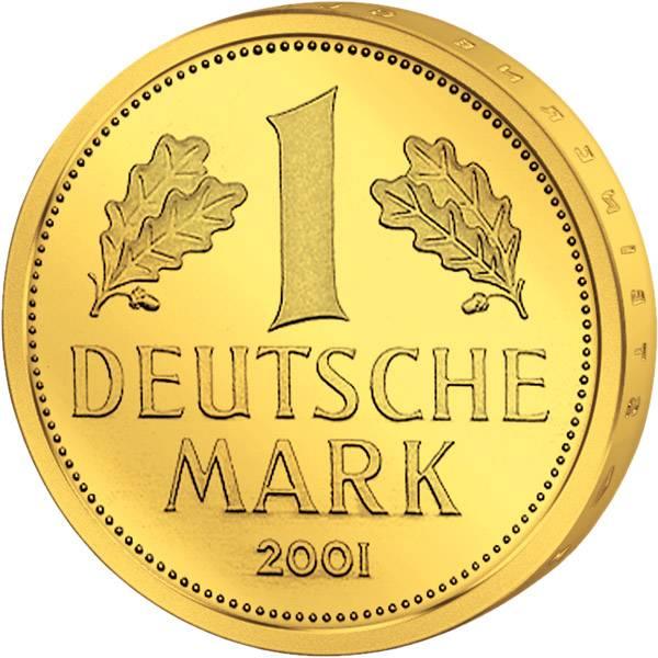 1 DM BRD BRD Abschiedsmark 2001 B.u.W. Stempelglanz