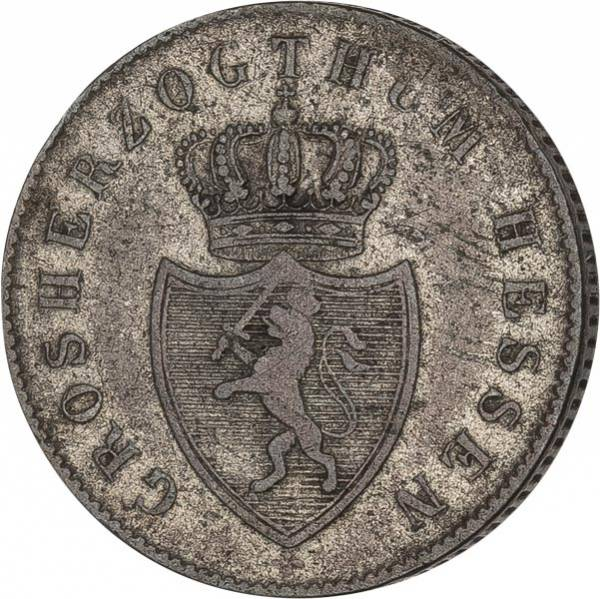 6 Kreuzer Hessen-Darmstadt Großherzog Ludwig II. 1838-1842