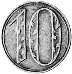 10 Pfennig Danzig Wappen 1920 Sehr schön