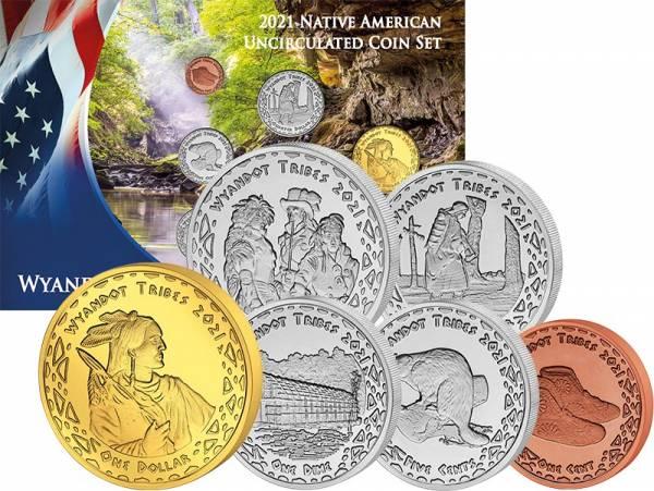 1 Cent - 1 Dollar Kursmünzensatz USA Kursmünzen der Wyandot 2021