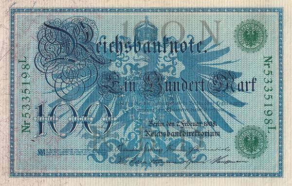 100-Mark-Banknote 1908