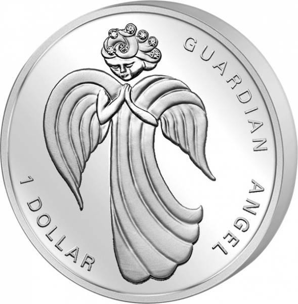 1 Dollar Nauru Schutzengel 2009 Polierte Platte