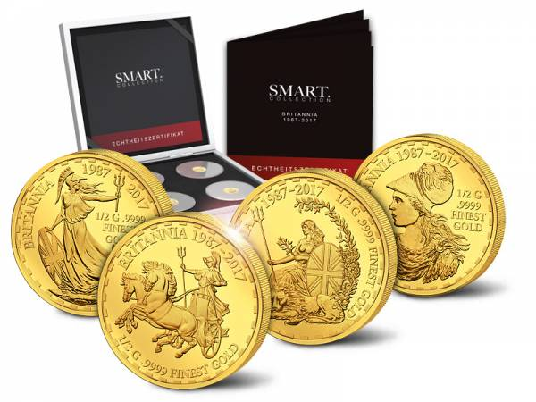 4 x 10 Dollars Salomonen Britannia