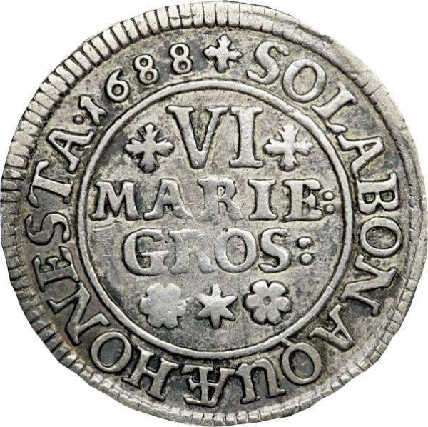 6 Mariengroschen Braunschweig Calenberg Hannover Herzog Ernst August 1680-1698