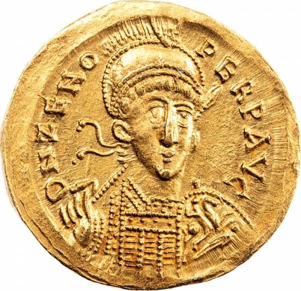 Solidus Römisches Kaiserreich Kaiser Zeno 476-491 n.Chr.