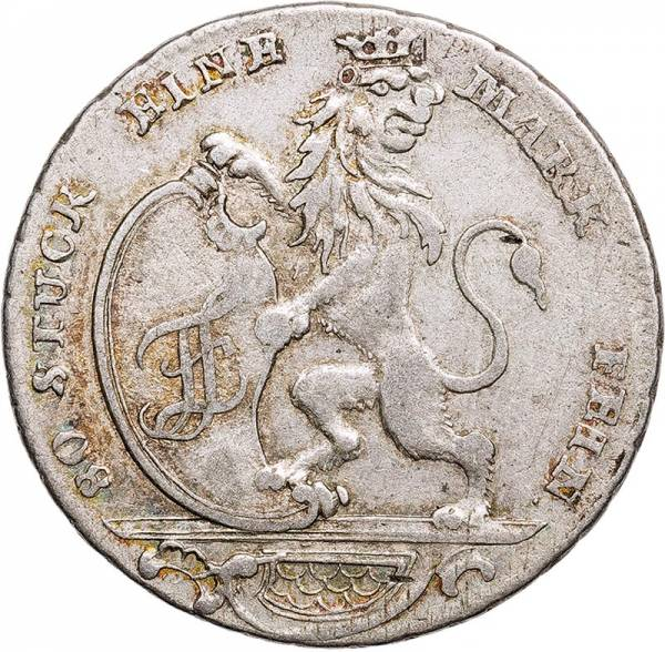 1/6 Taler Hessen-Kassel Landgraf Freidrich II. 1766 - 1775