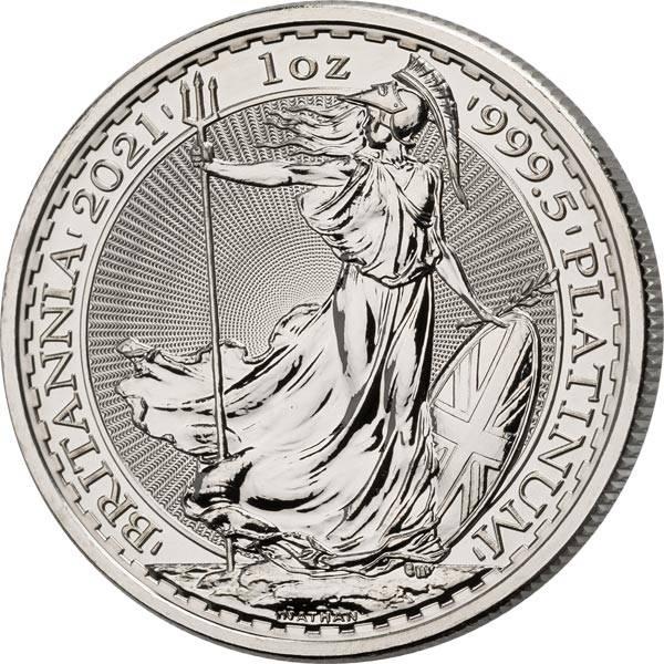 1 Unze Platin Großbritannien Britannia 2021