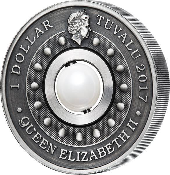 1 Dollar Tuvalu Drache und Perle 2017