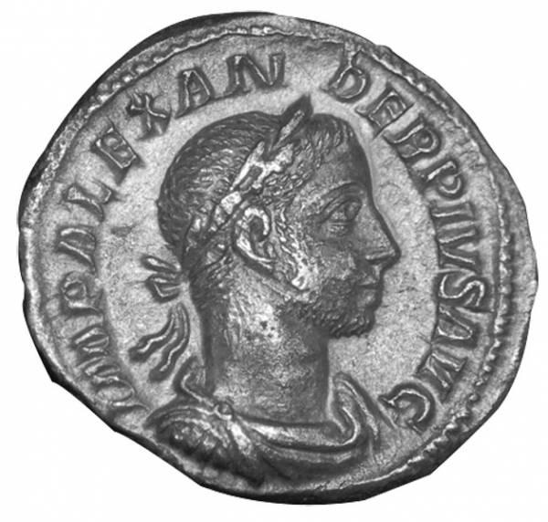 Denar Kaiser Severus Alexander 222-235 n.Chr. Sehr schön