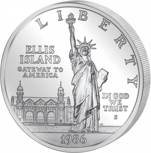 1 Dollar USA Freiheitsstatue 1986 Polierte Platte