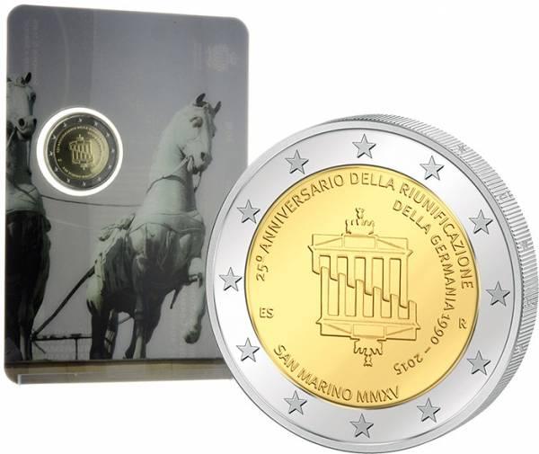 2 Euro San Marino 25 Jahre Deutsche Einheit 2015 prägefrisch