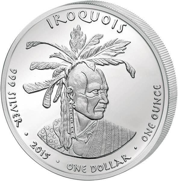 1 Dollar USA Pennsylvania Irokesen 2015 Polierte Platte (PP)