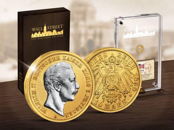 10 Mark Wall Street Investment Heritage Edition Kaiser Wilhelm II. 2014