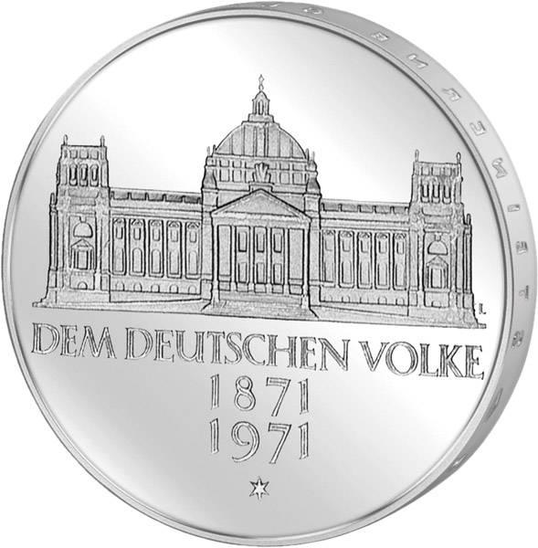 5 DM Münze BRD Reichsgründung 1971 G Vorzüglich