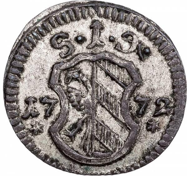 Einseitiger Pfennig Nürnberg 1754-1790