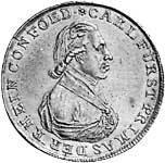 Konventionstaler Carl von Dalberg 1809 Silber Vorzüglich