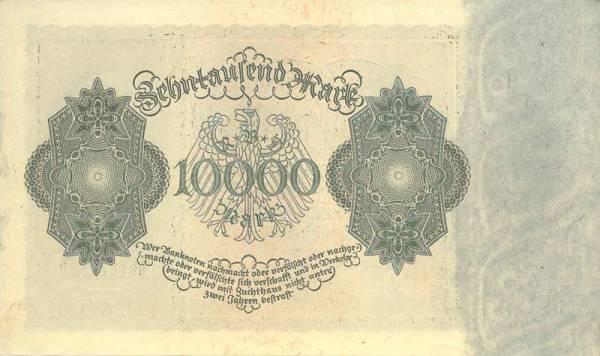 10.000 Mark Deutschland Reichsbanknote 1922