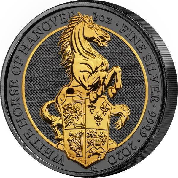 2 Unzen Großbritannien Pferd von Hannover 2020 Golden Enigma Edition