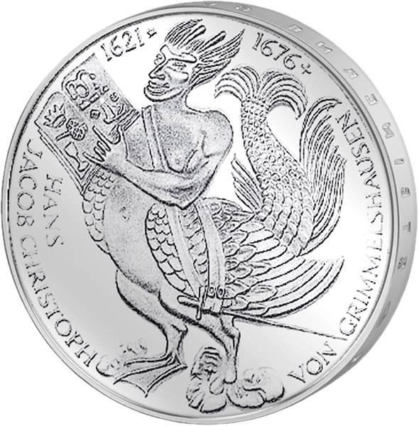 5 DM Münze BRD Hans Jakob Christoph von Grimmelshausen