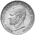 Taler Vereinstaler Georg Victor 1859, 1867 ss-vz