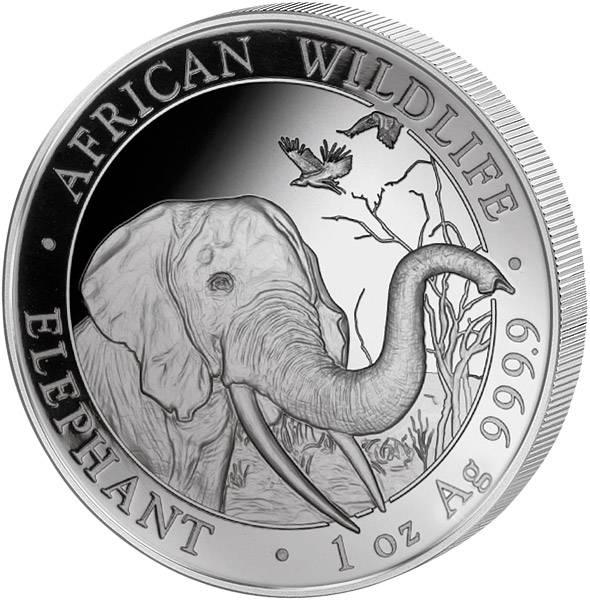 1 Unze Silber Somalia Elefant 2018