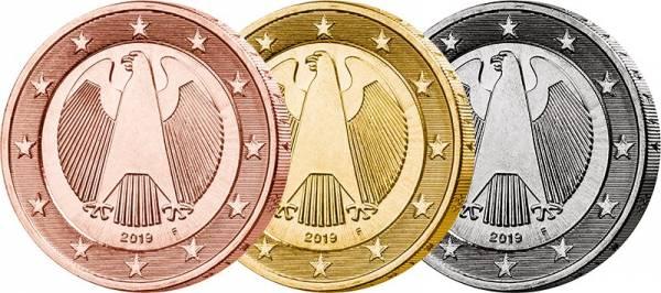 3 x 2 Euro BRD 70 Jahre Bundesflagge - Bundesadler 2019