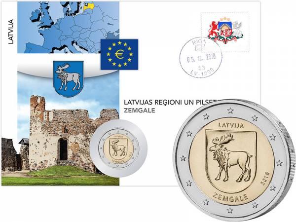 2 Euro Numisbrief Lettland Region Semgallen 2018