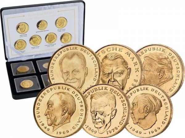 6 x 2 DM BRD Große Staatsmänner 1969-2001